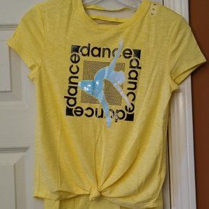 🆓 Short Sleeve Knot Style Dance Tee Size 10
